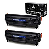 IKONG 12A Toner Compatible Toner Cartridge Replacement for HP 12A Q2612A Works with HP Laserjet 1020 1010 1012 1018 1022 3055 3050 M1319f,MFP 3015 1022N 3030 3052 1022NW 3020 M1005 M1005MFP,2-Black