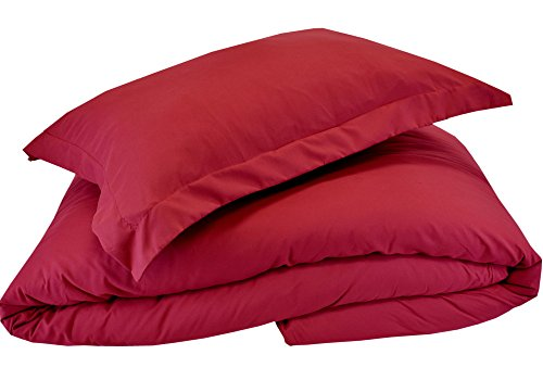 Cover 3 piece Set – Soft and Comfortable 1800 Prestige Collection – Brushed Microfiber Bedding (Burgundy, Queen Size) ()