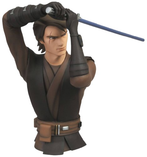 (Diamond Select Toys Star Wars The Clone Wars: Anakin Skywalker Vinyl Bust Bank )