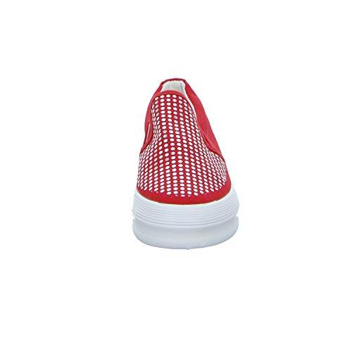 S&R 6082-Y Damen Leinen Slipper/Kletthalbschuh Rot (Rot)