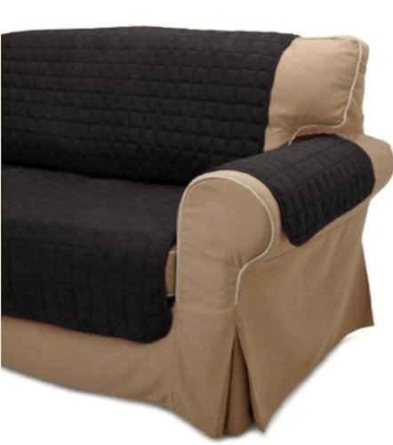 Legacy Decor 2PC Black Soft Micro Suede Couch Sofa and Loveseat Pet Furniture Slip Covers