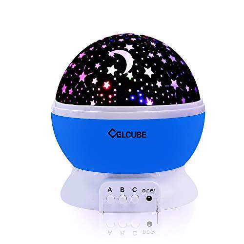 CELCUBE Night Light Lamp, Star Light Rotating Projector,