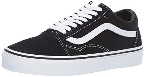 8ff7a9ef1837 Vans Unisex Old Skool Black White Skate Shoe 7.5 Men US   9 Women US