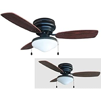 42 flush mount ceiling fan without light hardware house oil rubbed bronze inch kit cherry walnut blades fans with lights and remote white