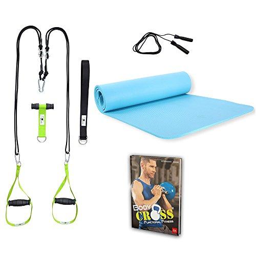 POWRX Set I Accessoire d'entraînement fitness Bodyweight avec Body Cross Functional livre I versch. Fitness Workout pour là-dedans