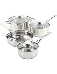 Stainless Steel 7 Piece Cookware Set Non Stick Cooking Pots and Pans Kitchen S