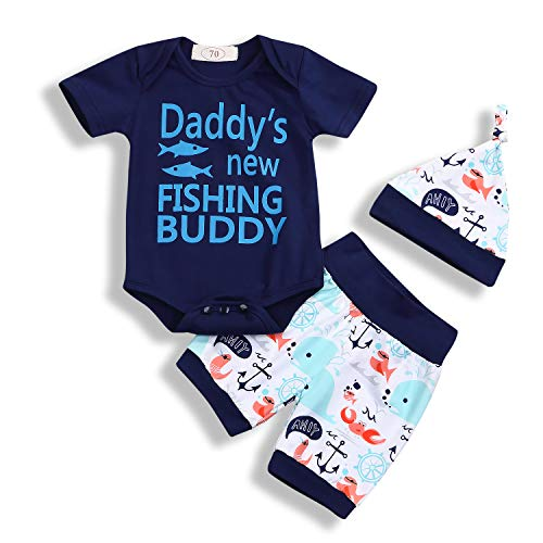 YOUNGER TREE 3Pcs Infant Toddler Baby Boy Short Set Daddy