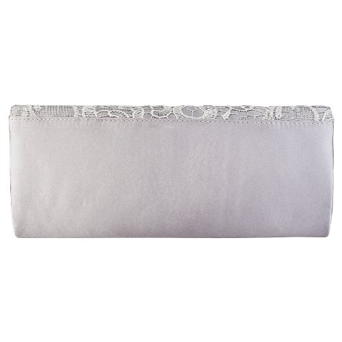 Clutch Evening Bag Ladies Womens Party Lace Bridal Floral Satin Silver Small Handbag nC788xwg6q