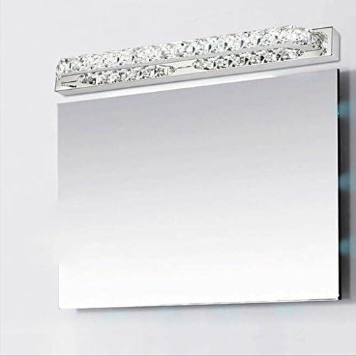 &LED Spiegelfrontlampe Crystal LED Edelstahl Spiegel Scheinwerfer Schlafzimmer Toiletten Badezimmer Spiegel Lampe Lampe vor dem Spiegel (Color : Warm White)