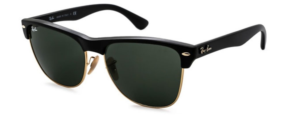 Ray-Ban 0RB4175 Square Sunglasses (57mm Matte Black Frame w/ Solid Black G15 Lens) by Ray-Ban