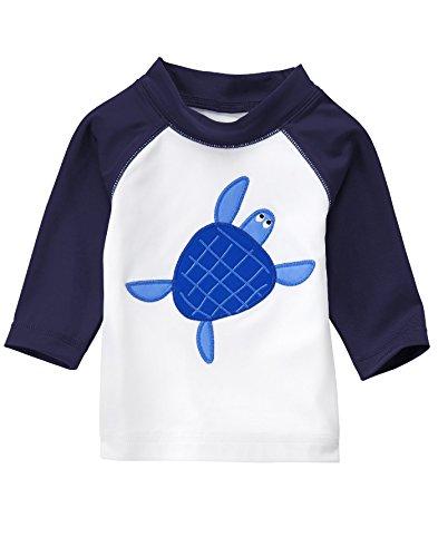 Infant Boys Long Sleeved (Gymboree Baby Toddler Boys' Little Animal Swim Rashguard, Turtle Multi,)