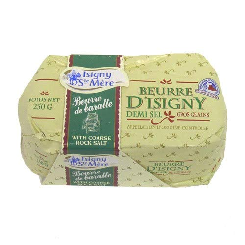 - Isigny Butter with Coarse Rock Salt (8.8 ounce)