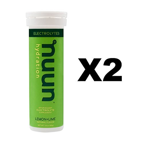 Nuun Active: Lemon+Lime Electrolyte Enhanced Drink Tablets(2-Pack of 10 Tablets)