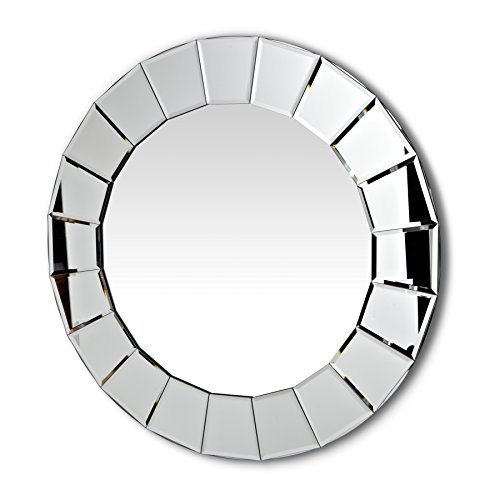 Abbott Collection Vision Round Mirror w/ Fluted Border