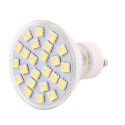 eDealMax GU10 SMD 5050 24 LEDs de cristal del bulbo de lámpara de ahorro de energía