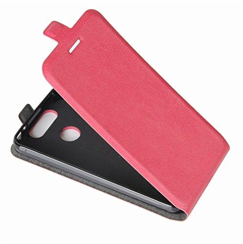 Funda ZTE Blade V8 mini,Manyip Caja del teléfono del cuero,Protector de Pantalla de Slim Case Estilo Billetera con Ranuras para Tarjetas, Soporte Plegable, Cierre Magnético E