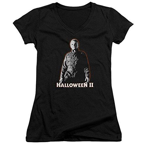 Halloween II Horror Slasher Movie Michael Myers Juniors V-Neck T-Shirt Tee
