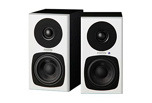 - Fostex 2-Way Active Speaker System, Pair, White (PM03H-W)