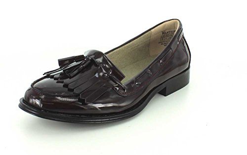 Kiltie Charlie Slip Womens Patent Wanted 5 7 On Burgundy w1ETqEa