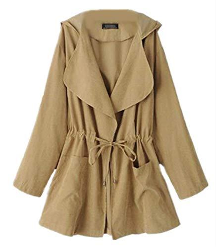 Jacken Femme Printemps Automne Unicolore Manteau El