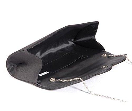 Rhinestone Handbags Purse Embellished �� Bag Cross Body Pleated Nodykka Wedding Clutches Black Evening Ip1OOR