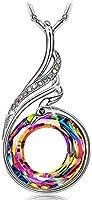 Kate Lynn Kette Damen Kristallkette Weihnachtsgeschenke Schmuck Damen Halsketten für Frauen Geschenkset Schmuckkästchen...