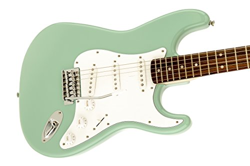 Squier by Fender Affinity Stratocaster Beginner Electric Guitar – Rosewood Fingerboard, Surf Green