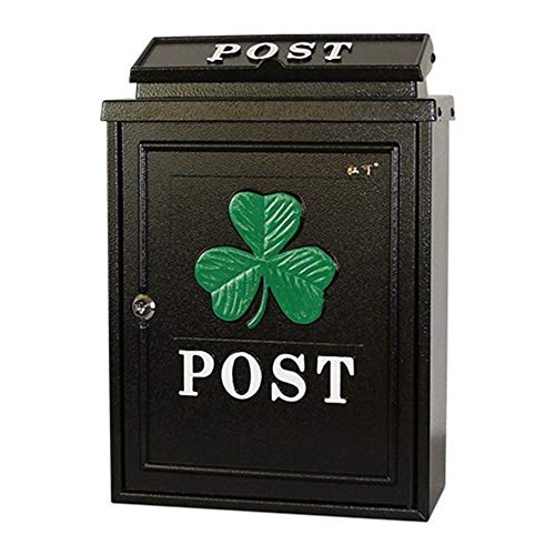 Lockable Weatherproof Post Box Mailbox - Galvanized Sheet, European Pastoral Creative British Outdoor Wall With Lock Rainproof Mailbox, Suitable For Villas, Courtyards, Homes - A Variety Of Patterns ()