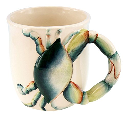 Beachcombers SS-Bcs-03606 Home Decor Products, Blue - Crab Mug