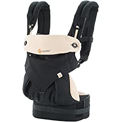 Ergobaby 360 All Carry Positions Award-Winning Ergonomic Baby Carrier, Black/Camel