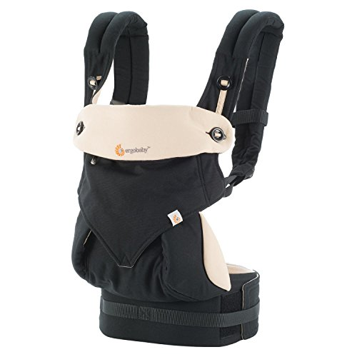 Ergobaby 360 All Carry Positions Award-Winning Ergonomic Baby Carrier, Black/Camel (Ergo Camel)