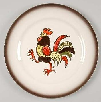 Metlox Red Rooster Poppytrail Handpainted Dinner Plate (10\u0026quot; ...  sc 1 st  Amazon.com & Amazon.com | Metlox Red Rooster Poppytrail Handpainted Dinner Plate ...