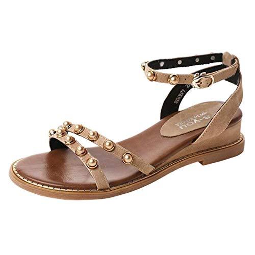 Beige Zeppa Fibbia Dimensione Tacco Pelle Sandali 4 Con Eeayyygch Uk colore Beige E In E1nz0wvq