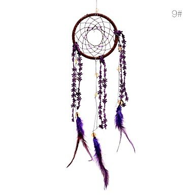 Tint Lureme? SweetLovely Crystal Shell Weave Flower Feather Dreamcatcher Wind Chimes