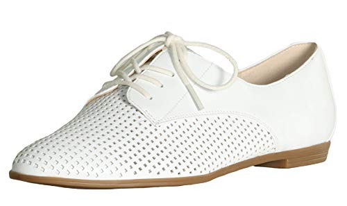 Isaac Mizrahi Live! Women's Frill Perforated Leather Oxford Shoes-White-12 from Isaac Mizrahi Live!