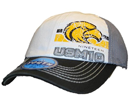 Southern Miss Golden Eagles Top of the World Youth Black Mesh Snapback Hat Cap