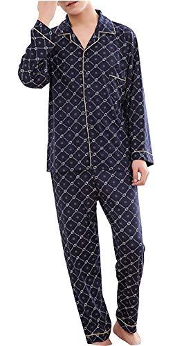 Oscuro Baño Para Conjunto Larga Y Azul Pijama Quimioterapia Pantalón Manga Loungewear Con Cosy Piezas Adelina Hombres Ropa De Dos x8pOqqwU