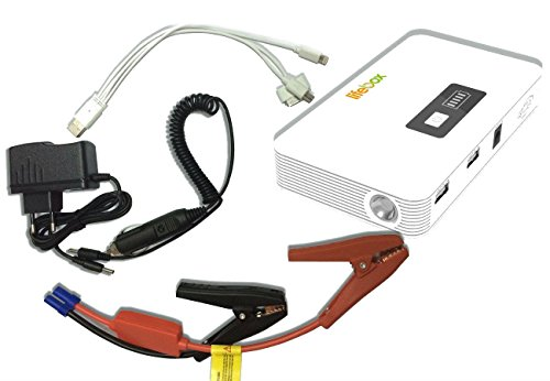 Pocket Jumper - LifeBox Car & Truck Jump Starter w/400 Peak Amps 10000 mAh Portable Battery Charger