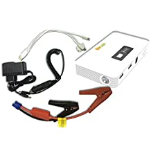 LifeBox UltraCharge 10,000 mAh White Portable Power Bank and Car Jump Starter ,extended battery,retail packaging,white.