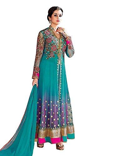 89348703e91 Image Unavailable. Image not available for. Color  RUHANI Women s Anarkali  Salwar Kameez Designer Indian Dress ...