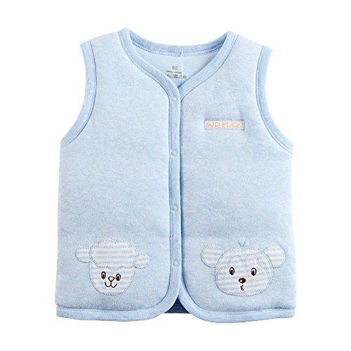 Unisex Vest (Monvecle Baby Warm Vests Unisex Infant to Toddler Padded Waistcoat (3-6 Months, Light blue))