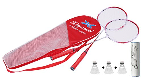 Kurtzy Set Of 2 Adult /Junior Badminton Racket With One Premium Quality Protective Carry Bag &...