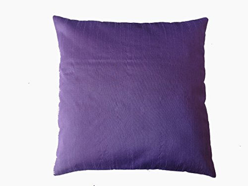 Saffron Polyester Dupioni Silk Square Toss Pink Green Blue Mauve Solid Color Pillow Case Cushion Cover (16