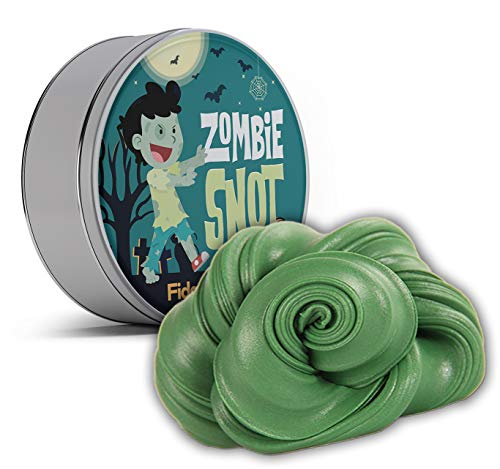 Halloween Idea For Kids (Zombie Snot Fidget Putty Stress Relief Novelty Zombie Gags for Kids Stocking Stuffers for Boys Halloween Weird White Elephant Ideas Fidget Toys Pearl Green Therapy)