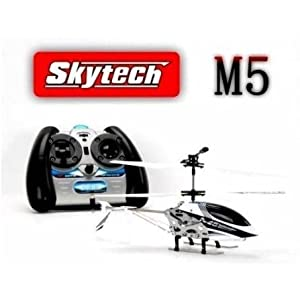 White M5 Helicopter with 3.5 Channel Remote Control by SkyTech