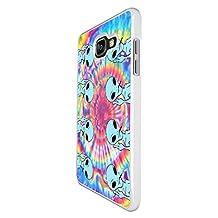 002726 - Alien Ugo Hippie Tie Dye Pattern Design For Samsung Galaxy A5 A500M - 2015 Fashion Trend CASE Back COVER Plastic&Thin Metal - White
