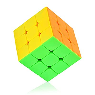 Speed Cube stickerless with New Anti-POP Structure Smooth Puzzle Cube(stickerless): Toys & Games