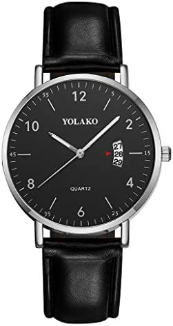 [해외]Men`s Quartz Watch Business Simple Dial Leather Band Calendar Wristwatches Under 5 Nice Gifts for Lovers / Men`s Quartz Watch Business Simple Dial Leather Band Calendar Wristwatches Under 5 Nice Gifts for Lovers