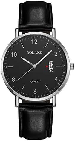 Ultramall BC12 Fashion Business Simple Dial Belt Calendar Men's Quartz Watch Gift