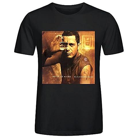 Alejandro Sanz No Es Lo Mismo Men's CrewNeck unique T Shirts Black (Heavy Metal Band Murder)